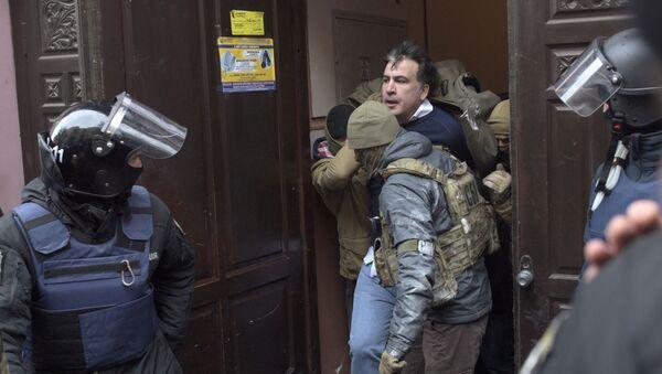 Zatrzymanie byłego prezydenta Gruzji Michaiła Saakaszwilego w Kijowie - Sputnik Polska