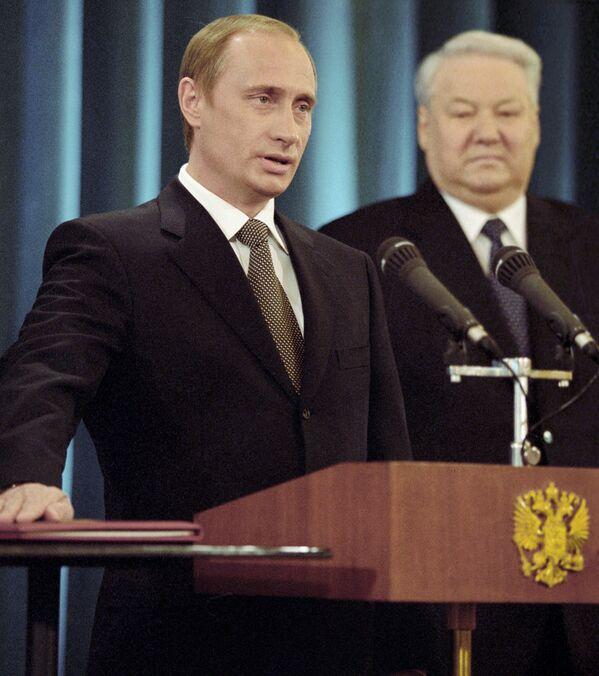 Władimir Putin składa przysięgę Prezydenta Federacji Rosyjskiej, 2000 rok - Sputnik Polska