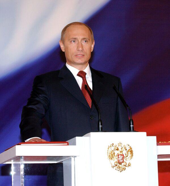 Oficjalne objęcie stanowiska prezydenta Federacji Rosyjskiej Władimira Putina, 2004 rok - Sputnik Polska