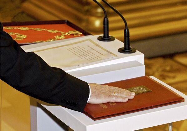 Oficjalne objęcie stanowiska pezydenta Federacji Rosyjskiej Władimira Putina, 2004 rok - Sputnik Polska