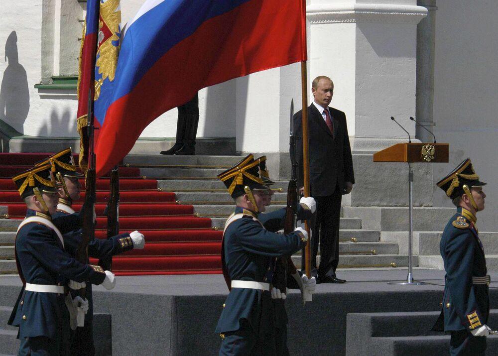 Ceremonia oficjalnego objęcia stanowiska prezydenta Federacji Rosyjskiej Władimira Putina, 2004 rok