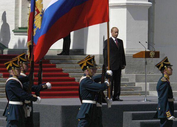 Ceremonia oficjalnego objęcia stanowiska prezydenta Federacji Rosyjskiej Władimira Putina, 2004 rok - Sputnik Polska