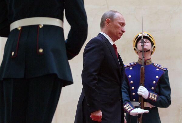 Władimir Putin podczas ceremonii oficjalnego objęcia stanowiska, 2012 rok - Sputnik Polska