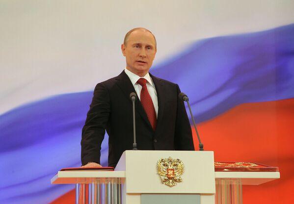 Władimir Putin składa przysięgę Prezydenta Federacji Rosyjskiej, 2012 rok - Sputnik Polska