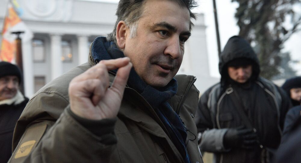 Były gubernator obwodu odeskiego Michaił Saakaszwili w Kijowie
