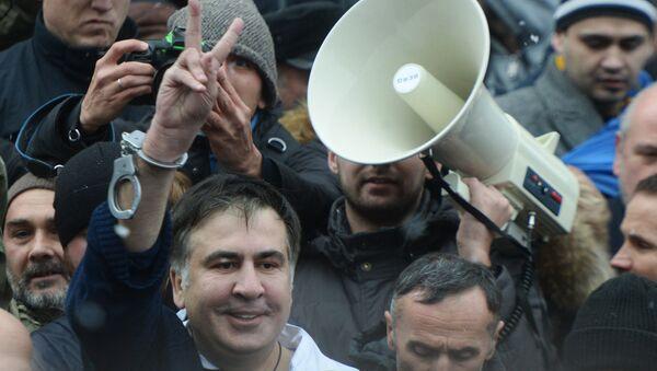 Micheil Saakaszwili w Kijowie - Sputnik Polska