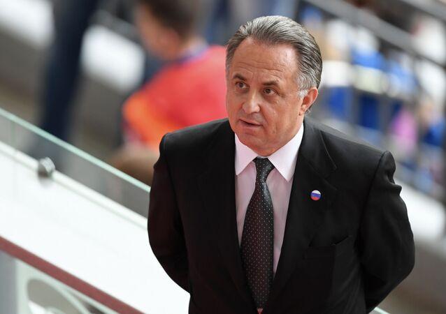 Wicepremier Federacji Rosyjskiej, prezydent RFS Witalij Mutko. Zdjęcie archiwalne