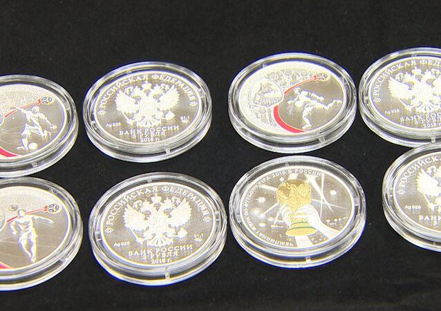 Kolekcjonerskie monety z okazji MŚ 2018