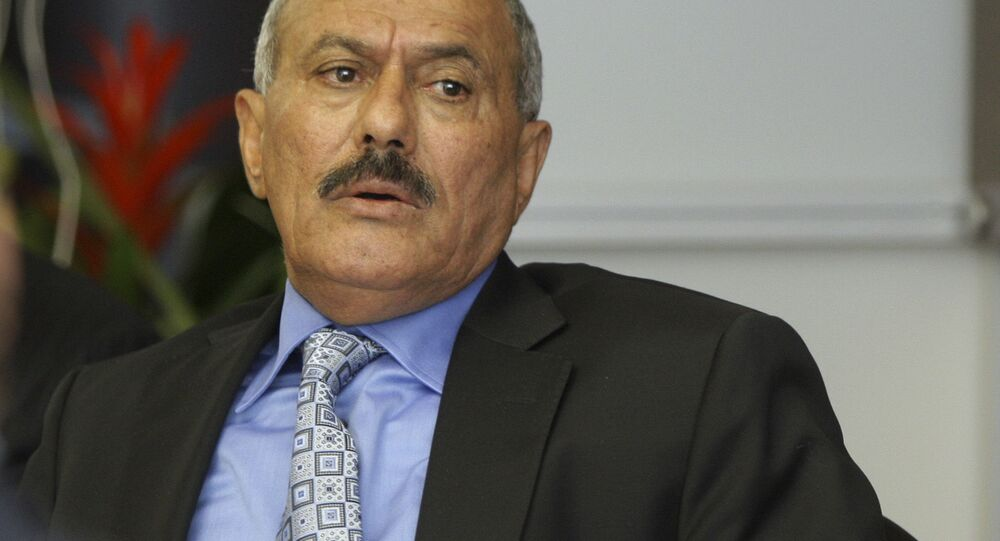Prezydent Republiki Jemeńskiej Ali Abdullah Saleh. Zdjęcie archiwalne