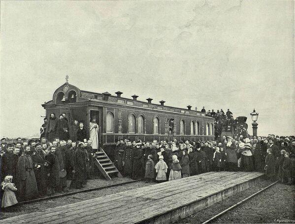 Wagon -cerkiew został zbudowany w latach 1891–1896. - Sputnik Polska