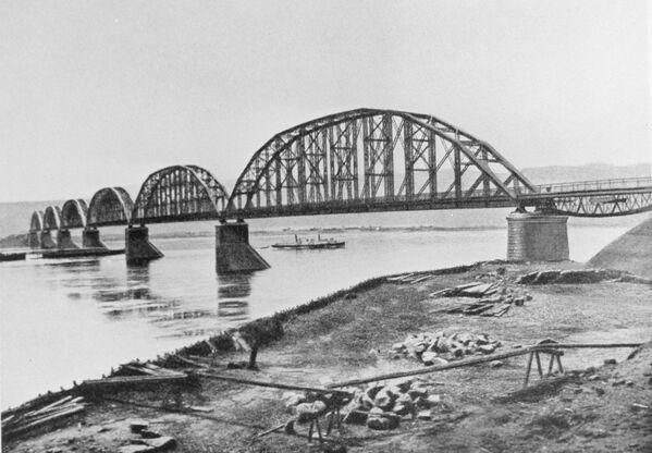 Most nad Jenisejem zbudowany w 1899 roku. - Sputnik Polska