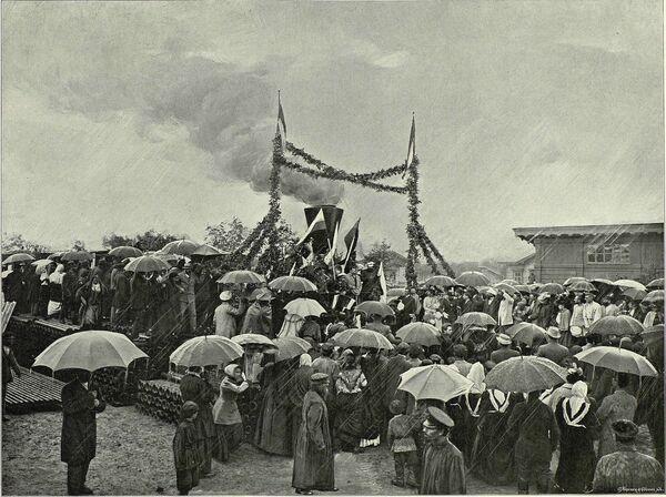 Otwarcie Tomskiej Linii Kolei Transsyberyjskiej w 1899 roku. - Sputnik Polska