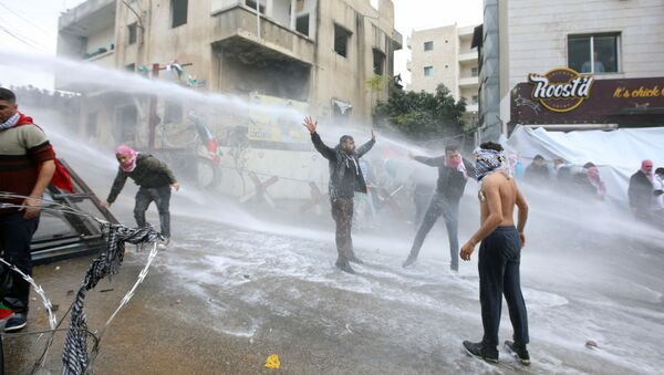 Bejrut: Protesty pod ambasadą USA - Sputnik Polska