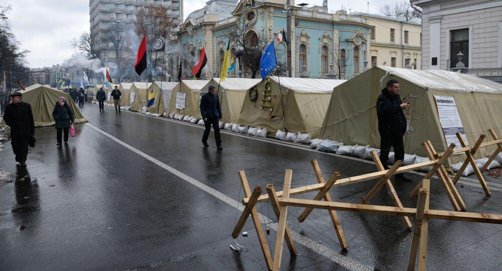 Marsz zwolenników Saakaszwilego na rzecz impeachmentu Poroszenki