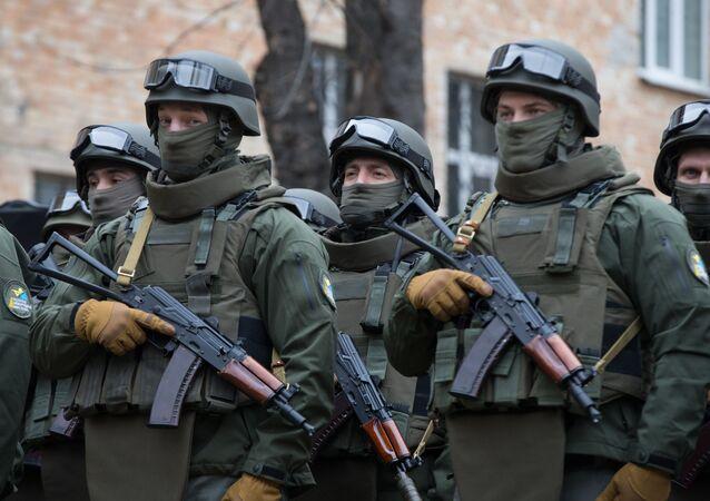 Pracownicy Biura Operacji Specjalnych Krajowego Biura Antykorupcyjnego Ukrainy