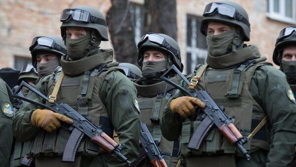 Pracownicy Biura Operacji Specjalnych Krajowego Biura Antykorupcyjnego Ukrainy - Sputnik Polska