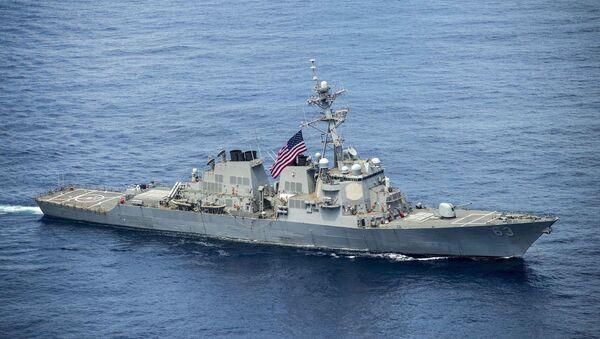 Amerykański niszczyciel USS Stethem na Morzu Południowochińskim - Sputnik Polska