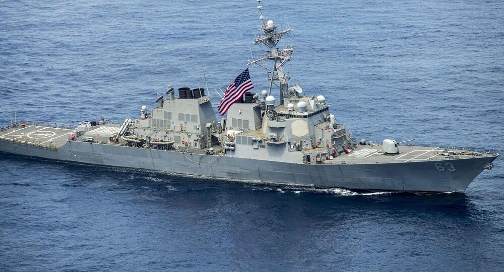 Amerykański niszczyciel USS Stethem na Morzu Południowochińskim
