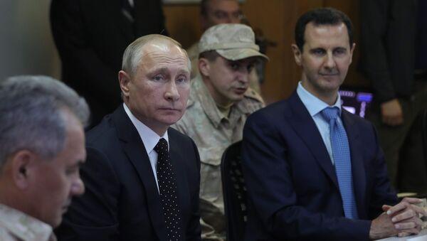 W rosyjskiej bazie Hmeimim doszło do spotkania prezydentów Rosji i Syrii - Sputnik Polska