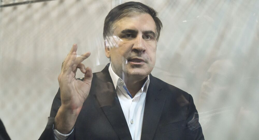 Były prezydent Gruzji Michaił Saakaszwili w czasie rozprawy sądowej