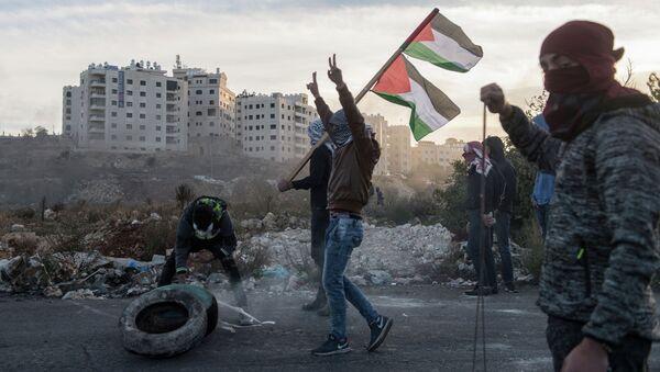Protesty na granicy Palestyny i Izraela - Sputnik Polska