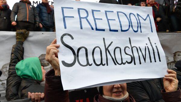 Protesty zwolenników Saakaszwilego w Kijowie - Sputnik Polska