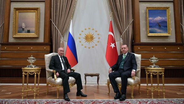 Władimir Putin i Recep Tayyip Erdogan - Sputnik Polska