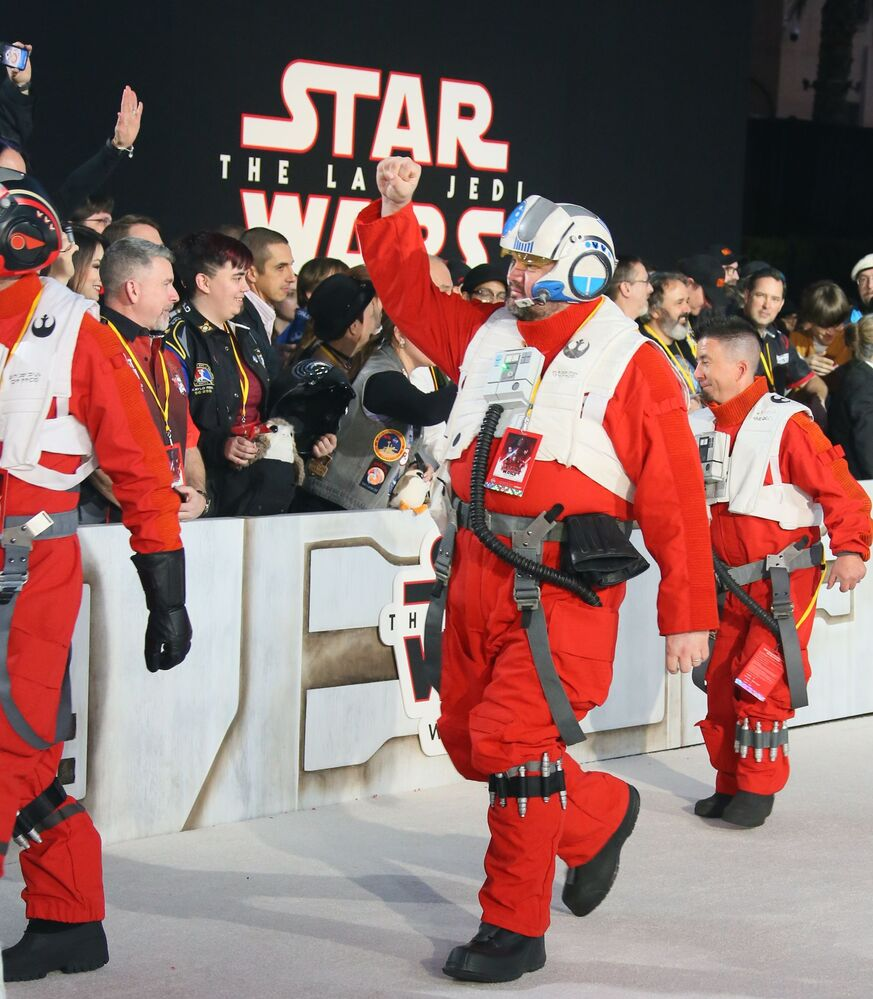 Postacie Gwiezdnych wojen na premierze filmu