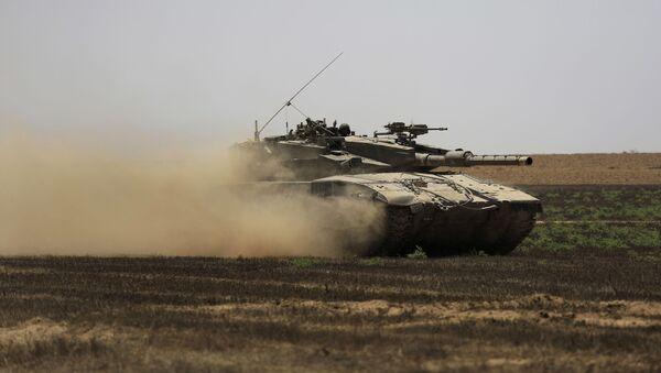 Izraelski czołg w Strefie Gazy. Zdjęcie archiwalne - Sputnik Polska