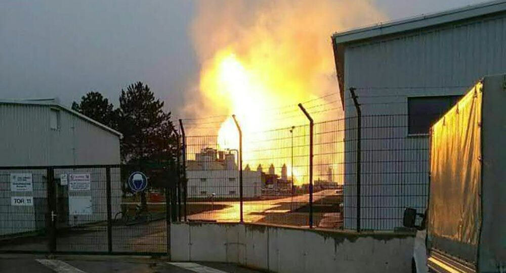 Wybuch gazociągu w Austrii