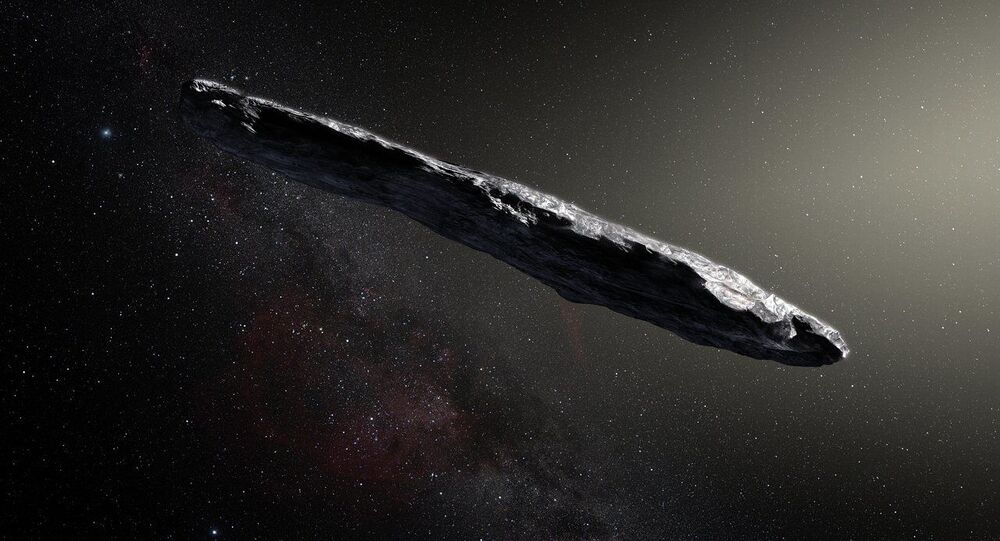 Tak artysta przedstawił asteroidę Oumuamua