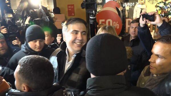 Saakaszwili przed zwolennikami w Kijowie po wyjściu z aresztu - Sputnik Polska