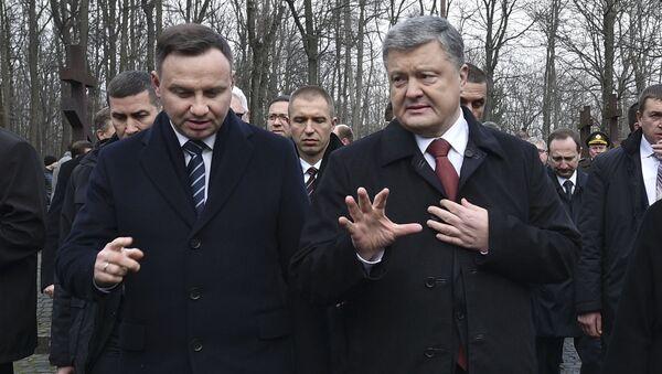 Prezydent Polski Andrzej Duda i prezydent Ukrainy Petro Poroszenko w Charkowie - Sputnik Polska