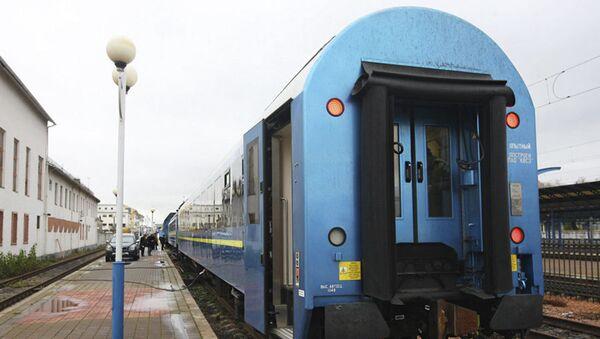 """Pociąg, który """"Ukrzaliznycia"""" wysłały na trasę Kijów-Wiedeń - Sputnik Polska"""