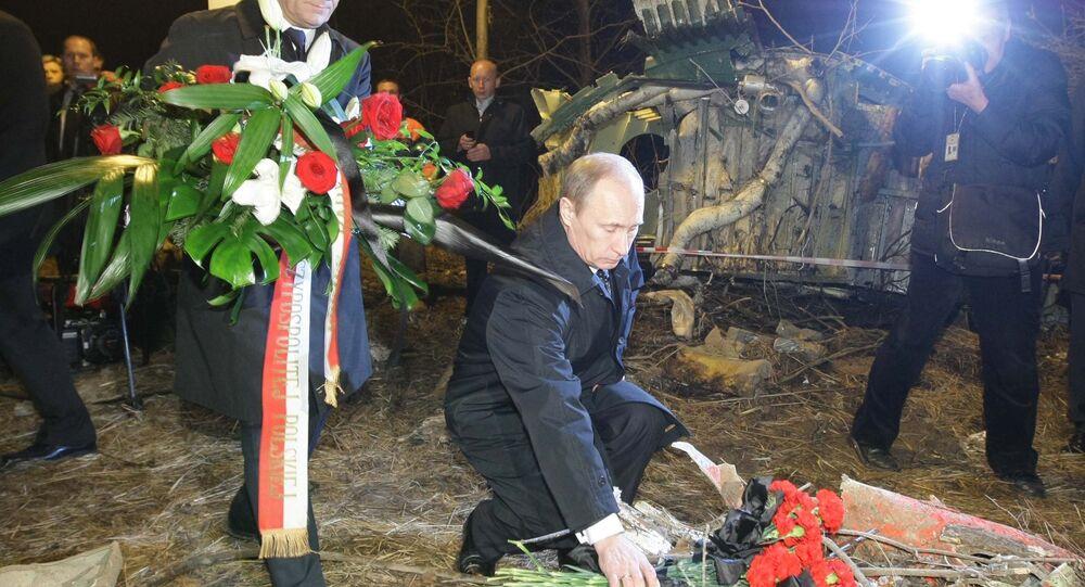 Donald Tusk i Władimir Putin, Smoleńsk 10 kwietnia 2010 rok