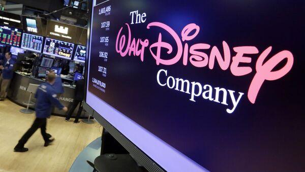 Logo Walta Disneya na ekranie nowojorskiej giełdy - Sputnik Polska