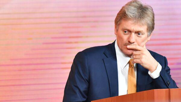 Rzecznik prezydenta Rosji Dmitrij Pieskow na corocznej konferencji prasowej prezydenta Rosji - Sputnik Polska