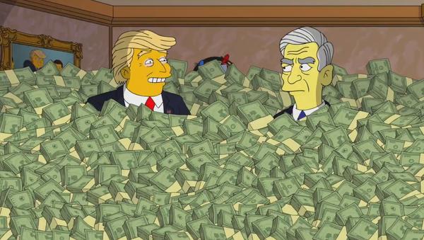 Trump dał łapówkę Muellerowi w... Simpsonach - Sputnik Polska