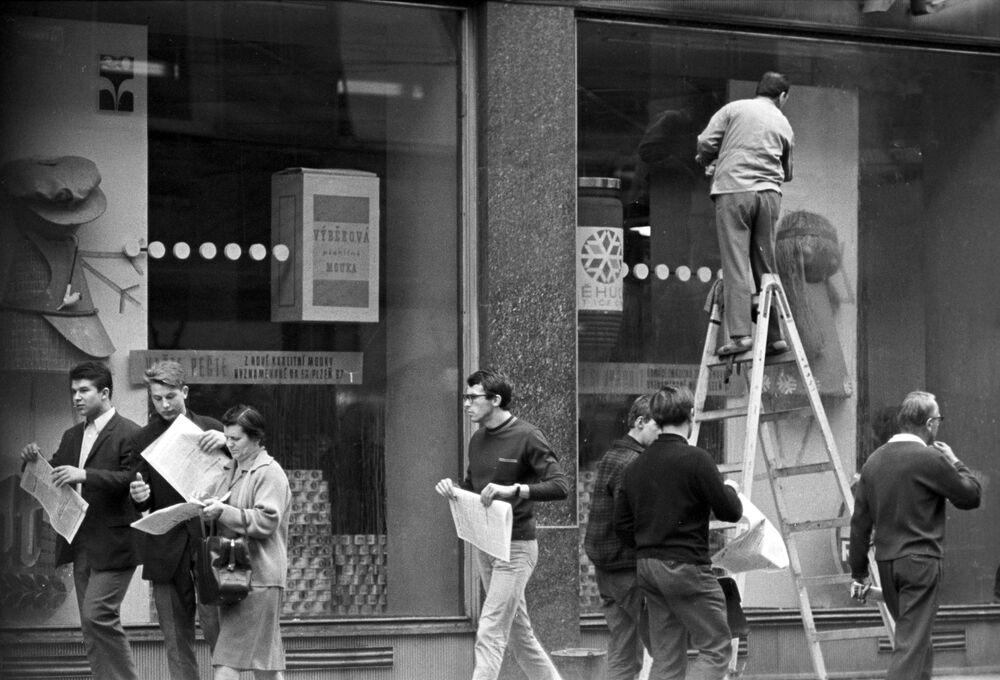 Na ulicach Pragi w 1968 roku.