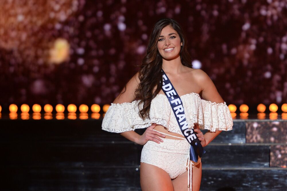 Uczestniczka konkursu pięknośći Miss Francji 2018, Lison Di Martino