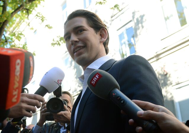 Lider Austriackiej Partii Ludowej i minister spraw zagranicznych Sebastian Kurz