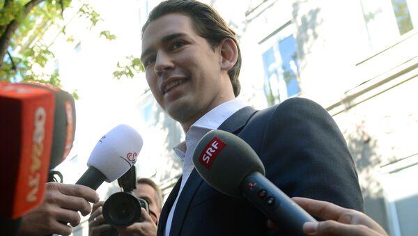 Lider Austriackiej Partii Ludowej i minister spraw zagranicznych Sebastian Kurz - Sputnik Polska