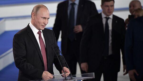 """Władimir Putin na """"Forum działań Ogólnorosyjskiego Frontu Narodowego - Sputnik Polska"""