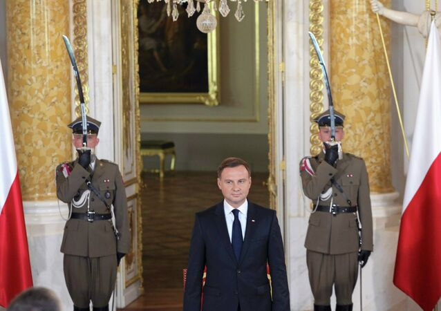 The new President Andrzej Duda attends the inaugural ceremonies at the Royal Castle in Warsaw, Poland August 6, 2015