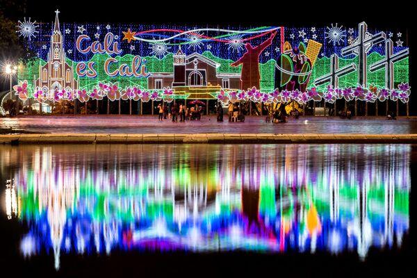 Świąteczne iluminacje w Kolumbii - Sputnik Polska