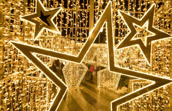 Świąteczne iluminacje w Austrii - Sputnik Polska