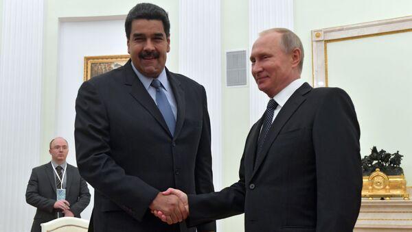 Prezydent Rosji Władimir Putin i prezydent Wenezueli Nicolas Maduro w czasie spotkania - Sputnik Polska