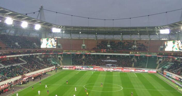 Andrzej Listwan na meczu piłki nożnej