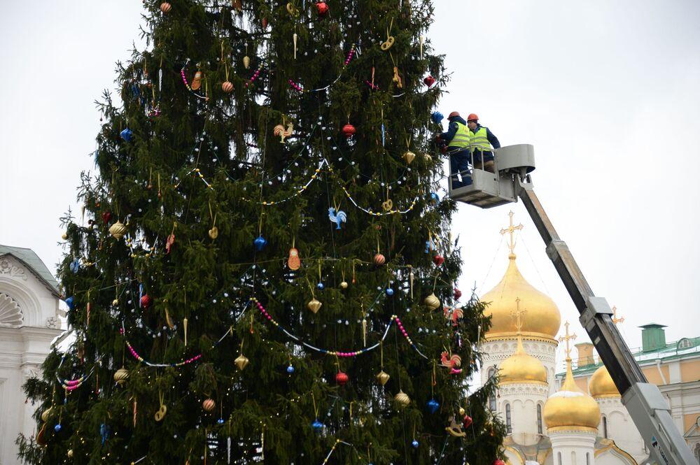 Choinka na Placu Katedralnym Kremla