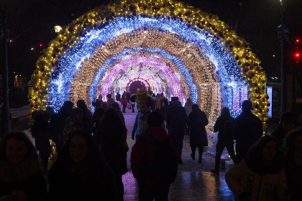 Iluminacje świetlne w Moskwie - Sputnik Polska